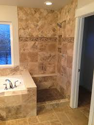 Travertine Tile Ideas Bathrooms Colors Travertine Tile Shower A World Of Tile Happy Customers