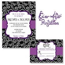 nightmare before themed wedding invitation rsvp card