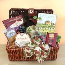 Country Wine Basket A Taste Of Wine Country Gift Basket