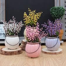 Home Decor Plants Living Room by Country Style Vintage Pumpkin Ceramic Bonsai Artificial Plants