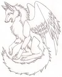 top 10 winged wolf coloring pages nice and cute for kids