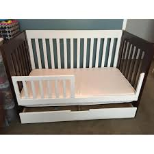 babyletto modo 3 in 1 convertible crib babyletto 3 1 mercer brown white crib u0026 drawer aptdeco