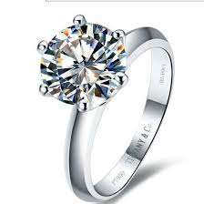 ring weeding wholesale free shipping platinum plated 2 ct synthetic sona