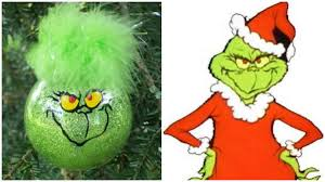 simple tutorial for grinch ornaments