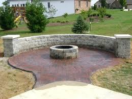 Brick And Paver Patio Designs Patio Pavers Fire Pit Designs Diy Brick Paver Fire Pit Patio