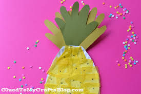 plate pineapple kid craft