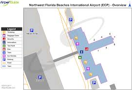 Map Of Portland Airport by Panama City Northwest Florida Beaches International Ecp