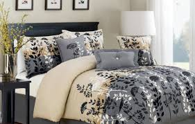 bedding set grey and white bedding supporting grey and beige