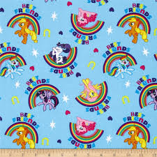 hasbro my little pony best friends blue discount designer fabric