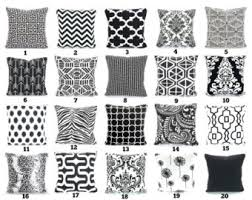 Couch Pillow Slipcovers Black White Pillow Etsy