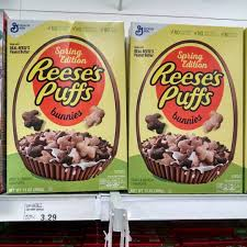 reese s easter bunny reese s puffs bunnies cereal is here to celebrate