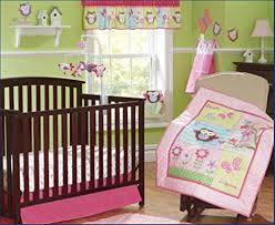 Boy Owl Crib Bedding Sets Pink Owl Bird 7pcs Crib Set Baby Bedding Set Crib Bedding Set