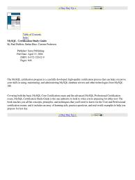mysql certification study guide my sql sql