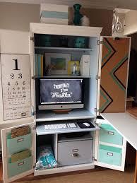Computer Desk Cabinets Hideaway Best 25 Computer Armoire Ideas On Pinterest Craft Armoire