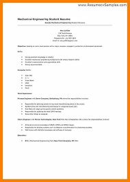Template For First Resume 5 Student Cv Template For First Job Biology Resume