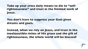 what does it to take up our cross daily
