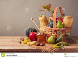 table thanksgiving autumn nature background fall fruits and pumpkin on wooden table