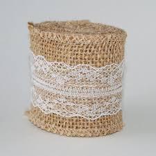 ribbon lace burlap white lace ribbon 6cm wide 2m length the paper place