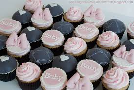 cupcakes for baby shower gray and pink baby shower cupcakes cakecentral