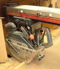 Craftsman Radial Arm Saw Table Laserkerf Radial Arm Saw Laser Installation Guide