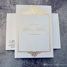 paper invitations white color cover bi fold wedding invitations with