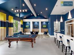 clubhouse with billiards table at lowry park apartments in denver