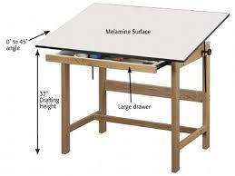 Drafting Table Wood Alvin Wtb42 Titan Natural Finish Oak Drafting Table Height 31in