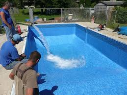 pool contemporary home exterior and backyard decoration using