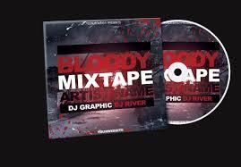 bloody mixtape cd cover free psd template by klarensm on deviantart