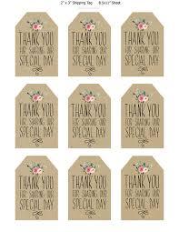 wedding tags printable wedding favor tags thank you printable tags