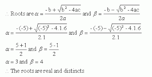 nature of the roots of a quadratic equation high