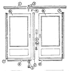 Parts Of An Exterior Door Kenmore Sears Door Door Kit Parts Model