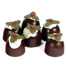 christmas chocolates mini chocolate christmas pudding truffles catering box 1kg 72