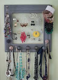 Jewelry Wall Hanger Rach U0027s Blog Diy Jewelry Box On My Wall