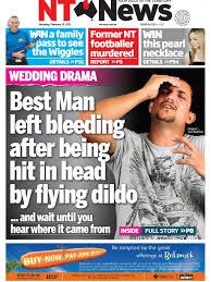 Meme Dildo - best man left bleeding after being hit in head by flying dildo nt news