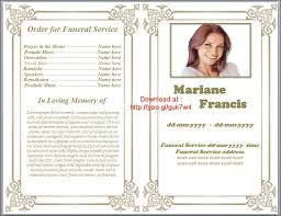 memorial service programs templates free 9 best images of free printable funeral programs funeral