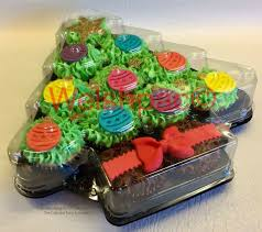 christmas tree 12cavity cupcake platters