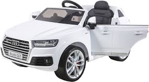 jeep cars white audi q7 licensed kids electric ride on car white