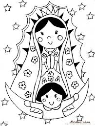 virgen de guadalupe coloring page google search virgen coloring