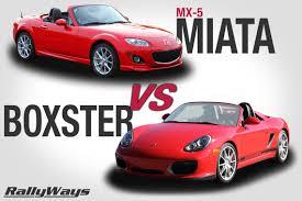Porsche Boxster 911 - mazda mx 5 miata vs porsche boxster rallyways