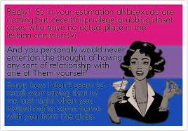 Bisexual Memes - bisexual humor robyn ochs