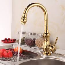 polished brass kitchen faucet best designed golden brass kitchen faucets single handle