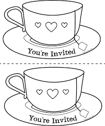cup coloring page tea cup coloring page eson me
