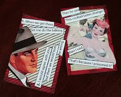 artfully musing the snarky ladies party game new collage sheet