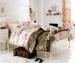Retro Bedroom Furniture Brown Patern Ceramic Tile Floor Vintage Retro Bedroom Design White