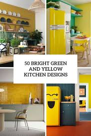 kitchen cabinets what color table 50 bright green and yellow kitchen designs digsdigs