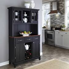 Kitchen Hutch Furniture Black Hutch Furniture In The Modern Kitchen With Wine Storage