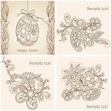 easter ornaments vector vector graphics