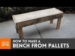 How To Make End Tables Out Of Pallets by How To Make A Bench From Reclaimed Pallets Youtube