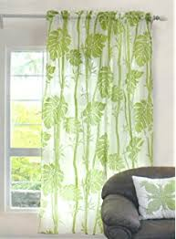 amazon com wozo watercolor palm leaf window sheer curtain panels